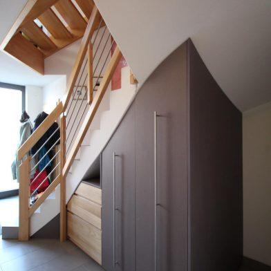 Einbauschrank Treppe - Gesamtansicht