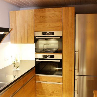Ofenansicht - Küchendesign aus Eiche und Stein
