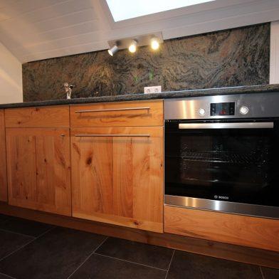 Küche aus Kirschbaum - Ansicht Arbeitszeile