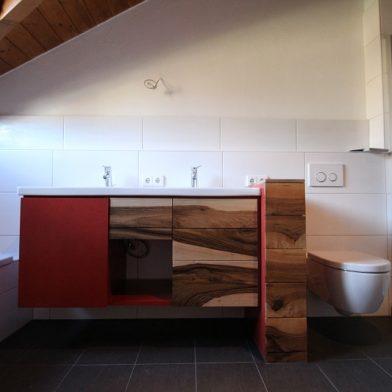 Waschbecken Unterschrank - Frontalansicht mit geschlossenen Schubladen