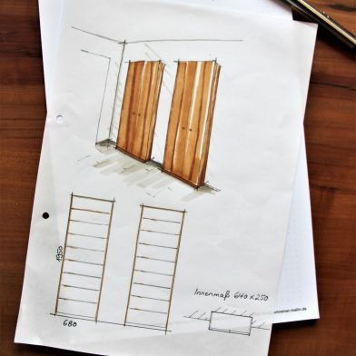 Skizze Schuhschrank